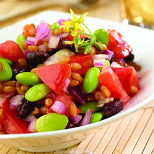 wheatberry2 colorful wheatberry bean salad