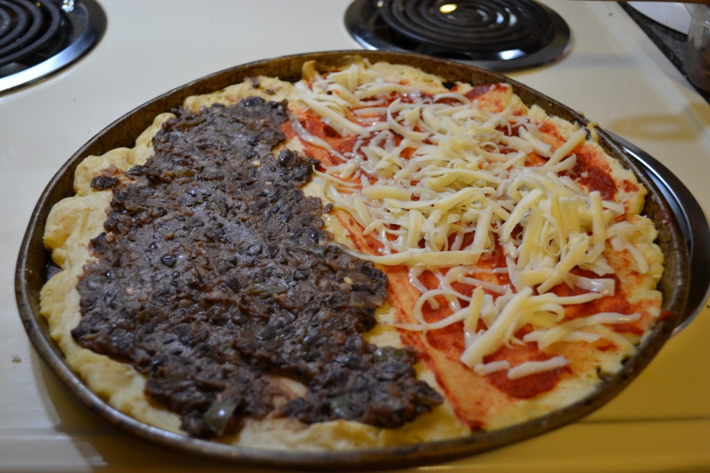 black bean & corn mexican pizza